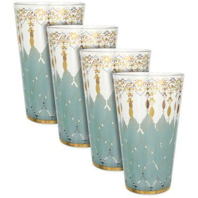 Patina Vie Opal Rain Tall Glasses (Set of 4)