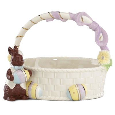 Lenox® Chocolate Easter Bunny Basket Figurine