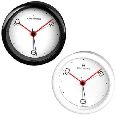 Oliver Hemming City Acrylic 3-Position Numbered Dial Alarm Clock in White