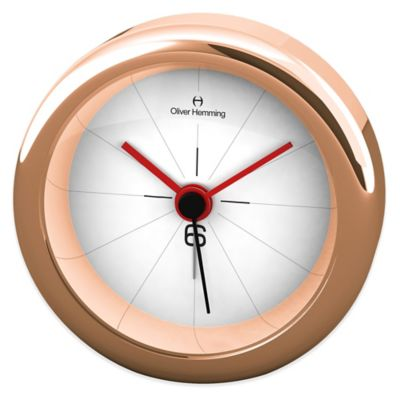 Oliver Hemming Desire Drop 6 Alarm Clock in Rose Gold