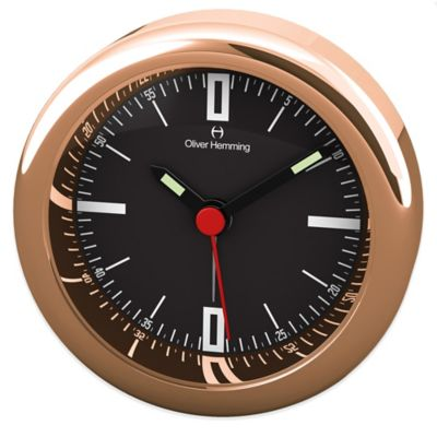 Oliver Hemming Desire Sleek Alarm Clock in Rose Gold