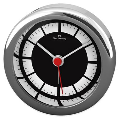 Oliver Hemming Desire Minimalist Alarm Clock in Chrome