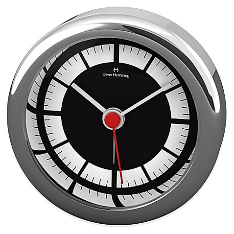 Buy Oliver Hemming Desire Minimalist Alarm Clock In Chrome
