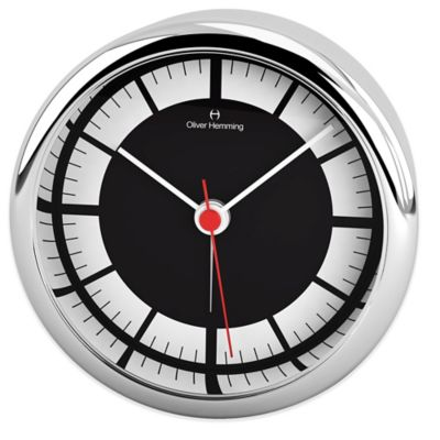 Oliver Hemming Extreme Desire Minimalist Alarm Clock in Chrome