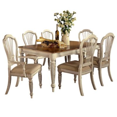 Hillsdale Wilshire 7-Piece Rectangle Dining Set in Antique White