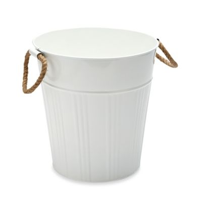 Asbury Metal Wastebasket in Pale Banana