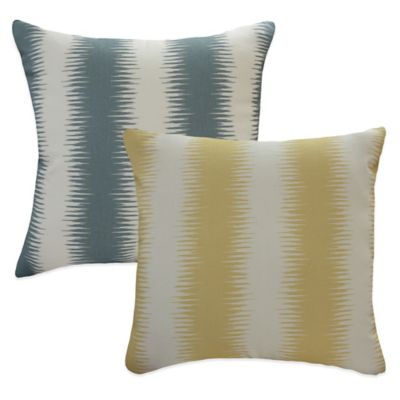 Diana ikat Striped Throw Pillow in Yellow (Set of 2)