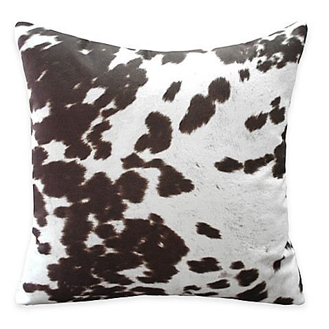 Weston Animal Print Throw Pillow in Brown (Set of 2) - Bed Bath & Beyond