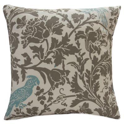 Blue Floral Toss Pillow