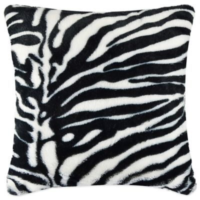 Vue™ Zebra Faux-Fur Square Throw Pillow