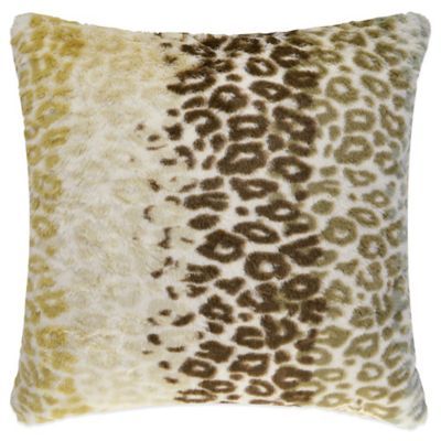 Vue™ Cheetah Faux-Fur Square Throw Pillow