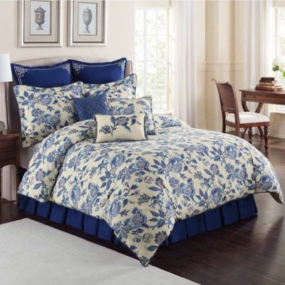 Williamsburg Persiana Queen Comforter Set in Blue