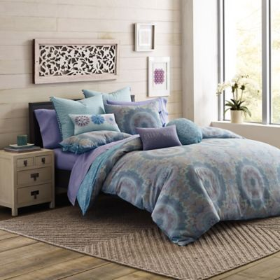 Under the Canopy® Lightworker Organic Cotton Reversible Twin Comforter Set in Blue