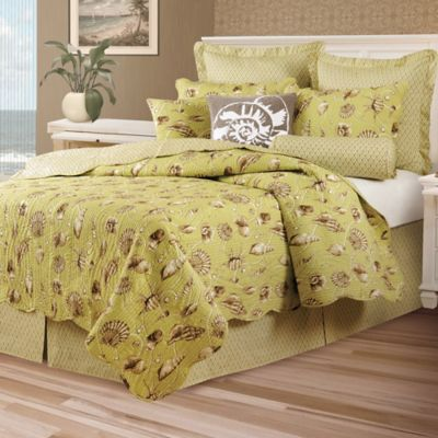 Calypso Shells Reversible Twin Quilt