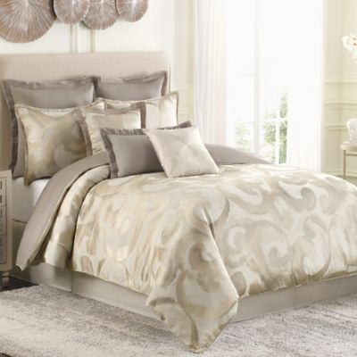 Raymond Waites Sawyer California King Comforter Set in Taupe
