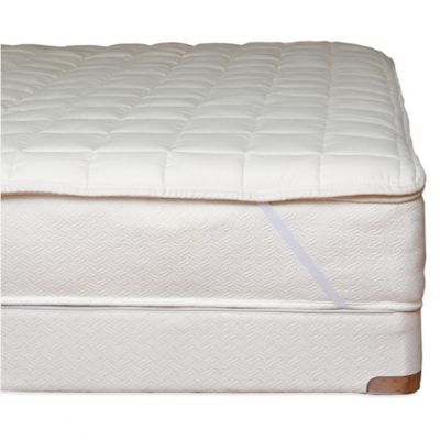 Naturepedic® Organic Cotton Quilted Queen Mattress Topper with Straps