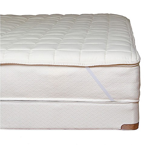 buy naturepedic organic cotton quilted twin xl mattress topper with straps from bed bath beyond. Black Bedroom Furniture Sets. Home Design Ideas