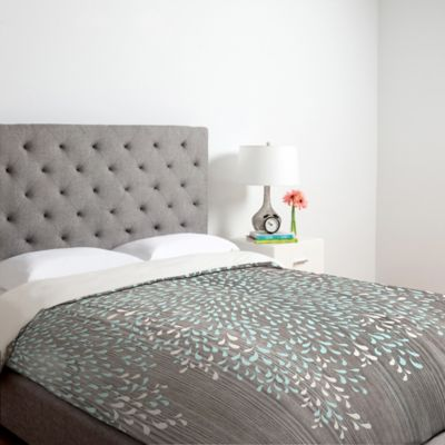 DENY Designs Iveta Abolina Coastal Raindrops Twin Duvet Cover in Grey