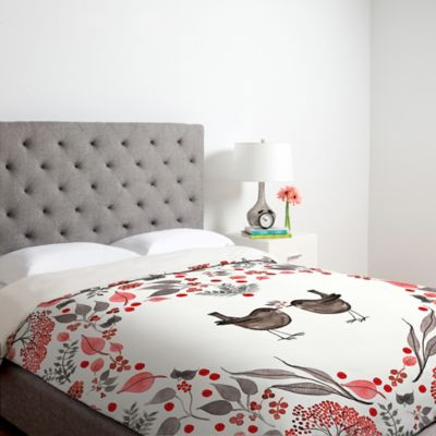 Gray Patterned Duvet