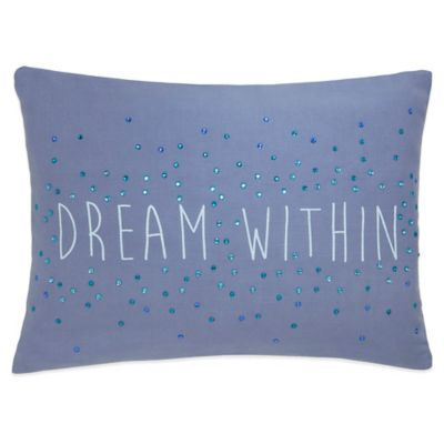 Under the Canopy® Lightworker Organic Cotton Dream Within Oblong Throw Pillow in Purple