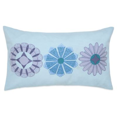 Under the Canopy® Lightworker Organic Cotton Chakra Oblong Throw Pillow in Light Aqua