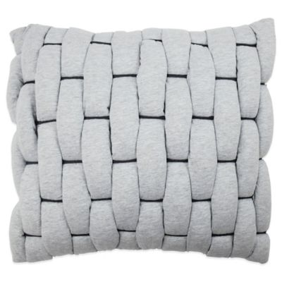 Vue® Cersei Loop Square Throw Pillow in Grey