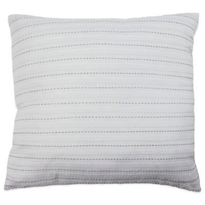 Vue® Cersei Embroidered Square Throw Pillow in Grey