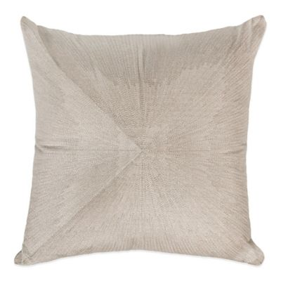Raymond Waites Sawyer Woven Square Throw Pillow in Silver