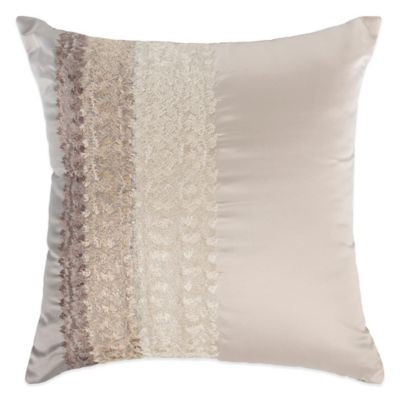 Raymond Waites Parker Square Throw Pillow in Grey/Tan