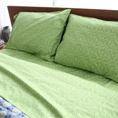 Amy Butler by Welspun Kyoto King Sheet Set in Green