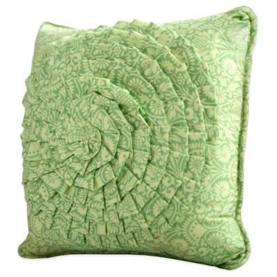Amy Butler by Welspun Sari Bloom Square Throw Pillow in Green