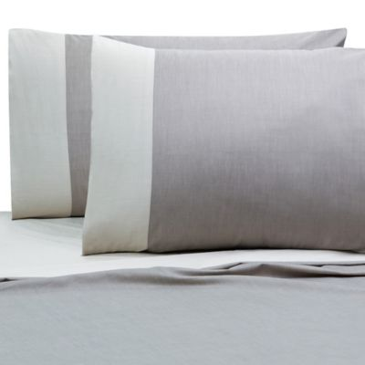Villa Di Borghese Chesterfield Italian-Made Queen Sheet Set in Grey/White