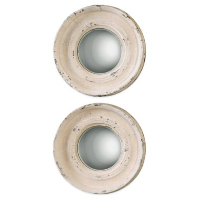 Uttermost Busalla Small Round Mirrors in Ivory (Set of 2)
