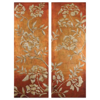 Uttermost Chalk Florals Hand Painted Wall Art (Set of 2)