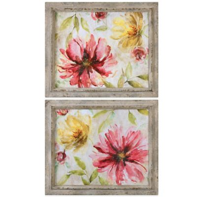 Uttermost Morning Petals Floral Art (Set of 2)