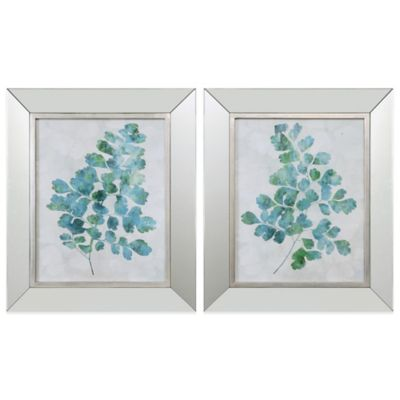 Uttermost Spring Leaves Framed Wall Art (Set of 2)