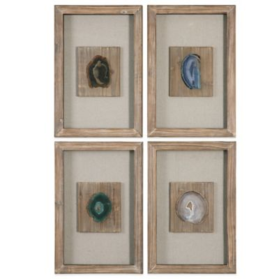 Uttermost Agate Stone Wall Art (Set of 4)