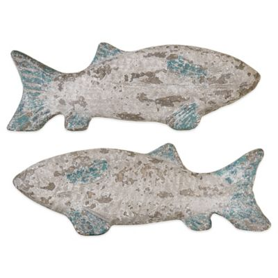 Uttermost Old Fish Wall Art (Set of 2)