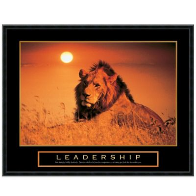 Leadership Lion Framed Print Wall Art