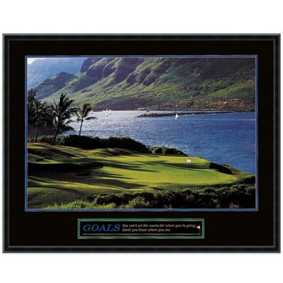 Goals: Golf Framed Print Wall Art