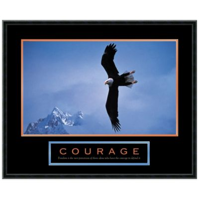 Courage: Bald Eagled Framed Print Wall Art