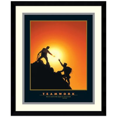 Teamwork Climbers Framed Print Wall Art