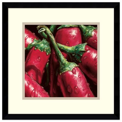 Alma'Ch Hot Peppers Framed Art Print
