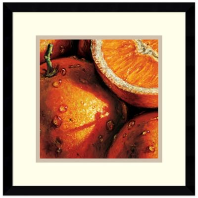 Alma'Ch Orange Framed Art Print