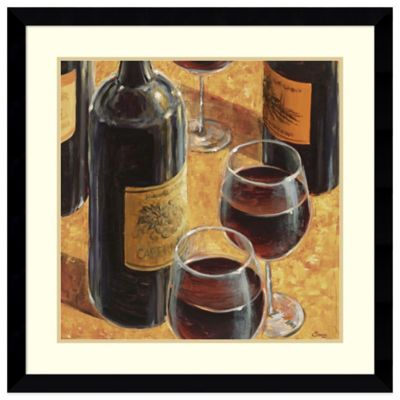 Karen Emery Wine Tasting I Framed Art Print