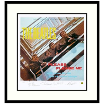 The Beatles Please Please Me Framed Album Cover Wall Art