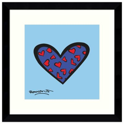 Romero Britto Blue About You Framed Print Wall Art