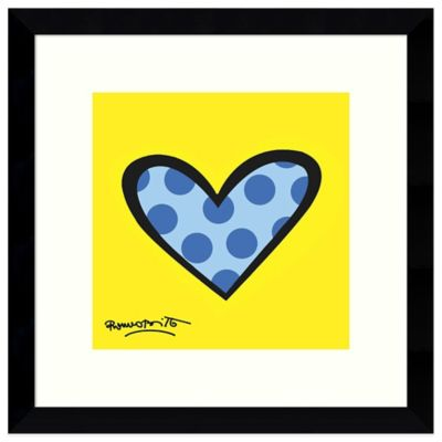 Romero Britto Bee Bop Love Framed Print Wall Art