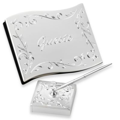 Lenox® Opal Innocence™ Guest Book with Pen