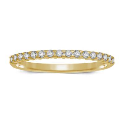 10K Yellow Gold .14 cttw Prong-Set Diamond Size 8.5 Ladies' Wedding Band